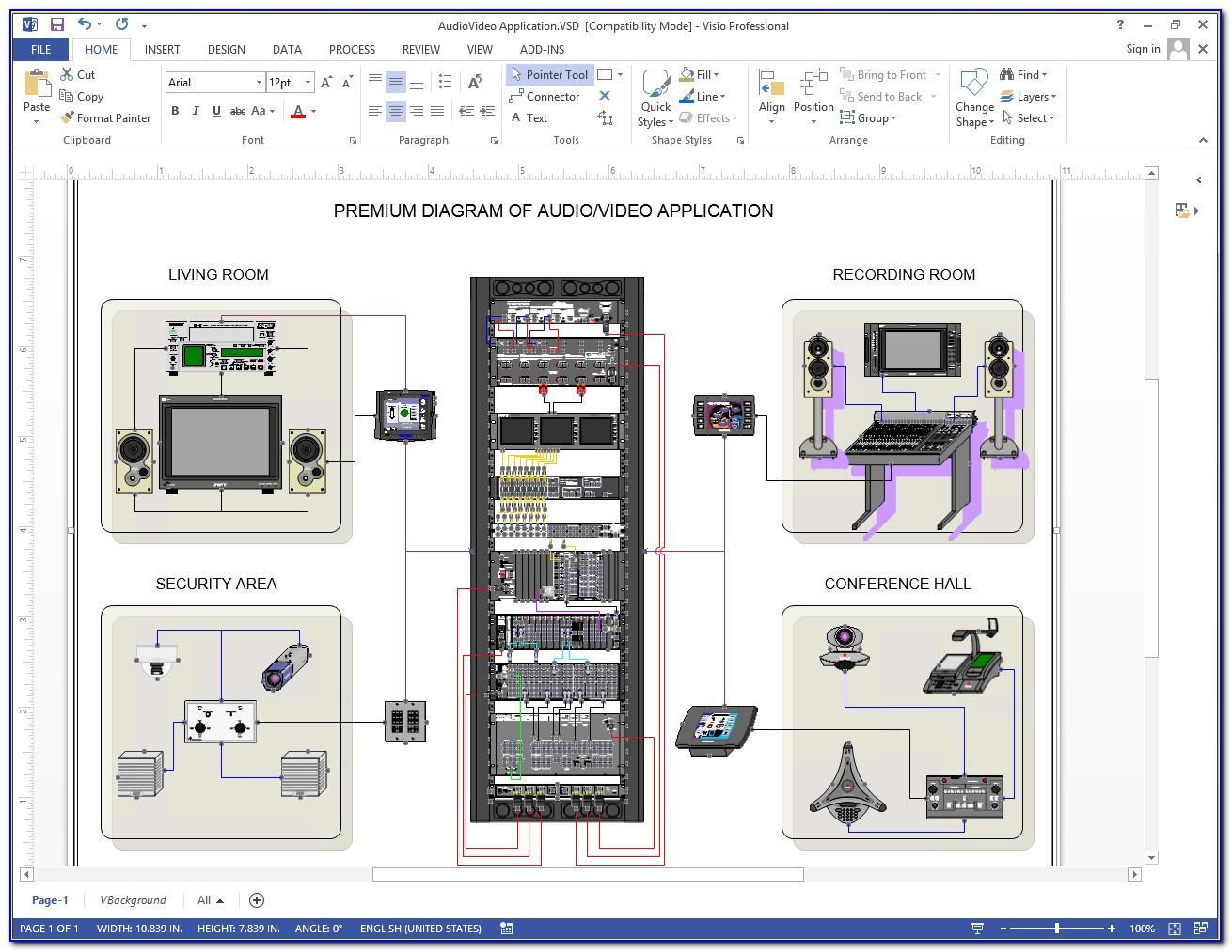 Visio Wan Network Diagram Template