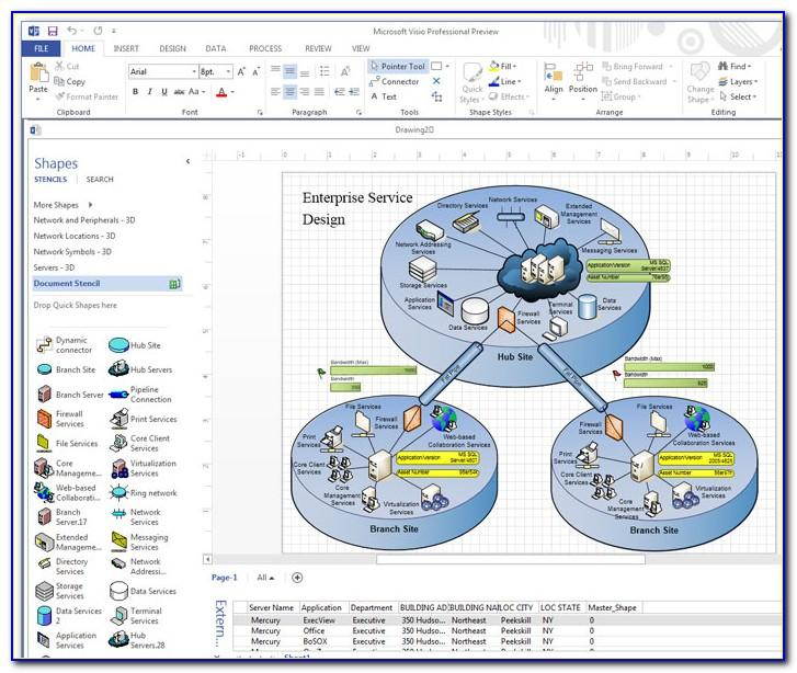 Visio Web Page Template