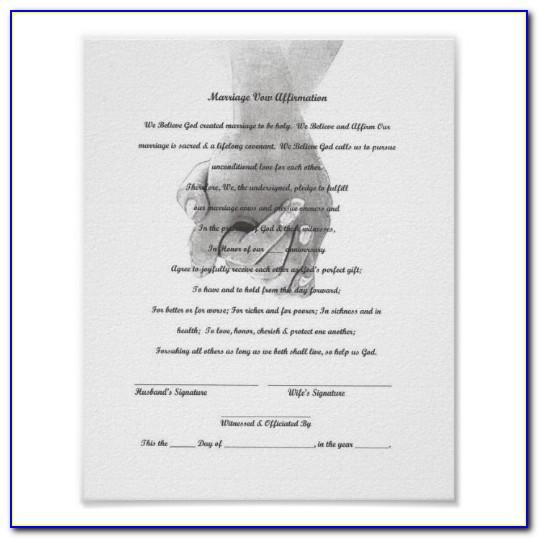 Vow Renewal Certificate Template Free