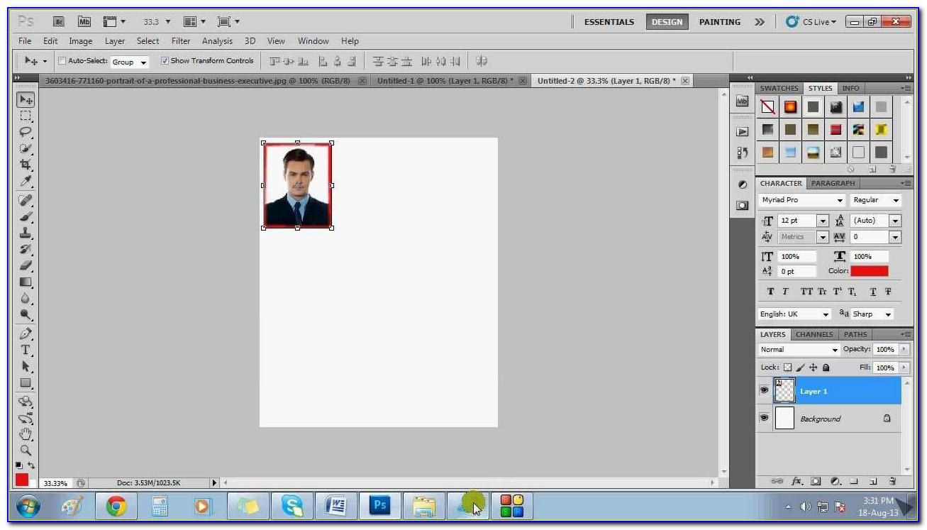 Wallet Size Picture Template Word