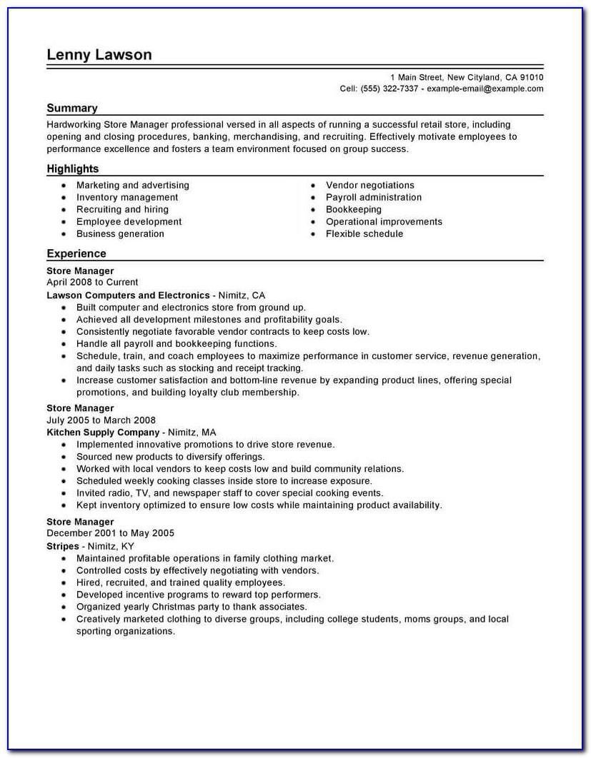 Warehouse Manager Job Profile Sample