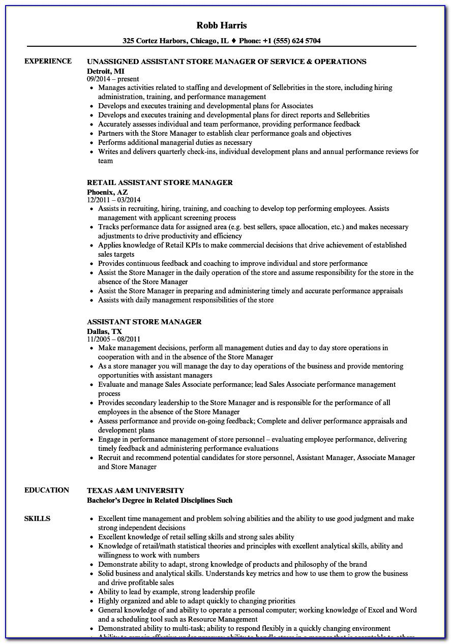 Warehouse Manager Resume Objective Examples
