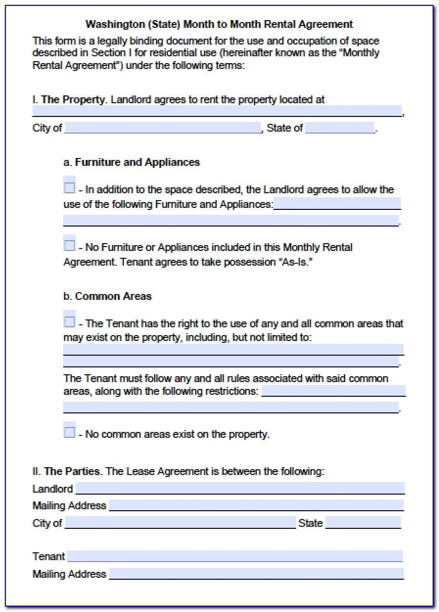Washington State Commercial Lease Agreement Template