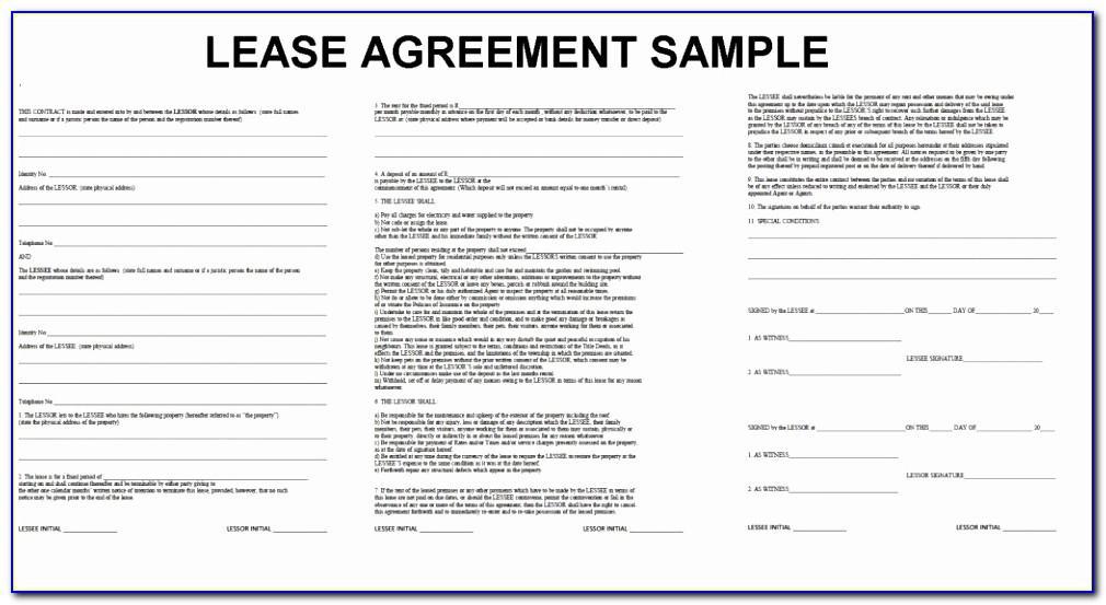 Washington State Rental Agreement Template
