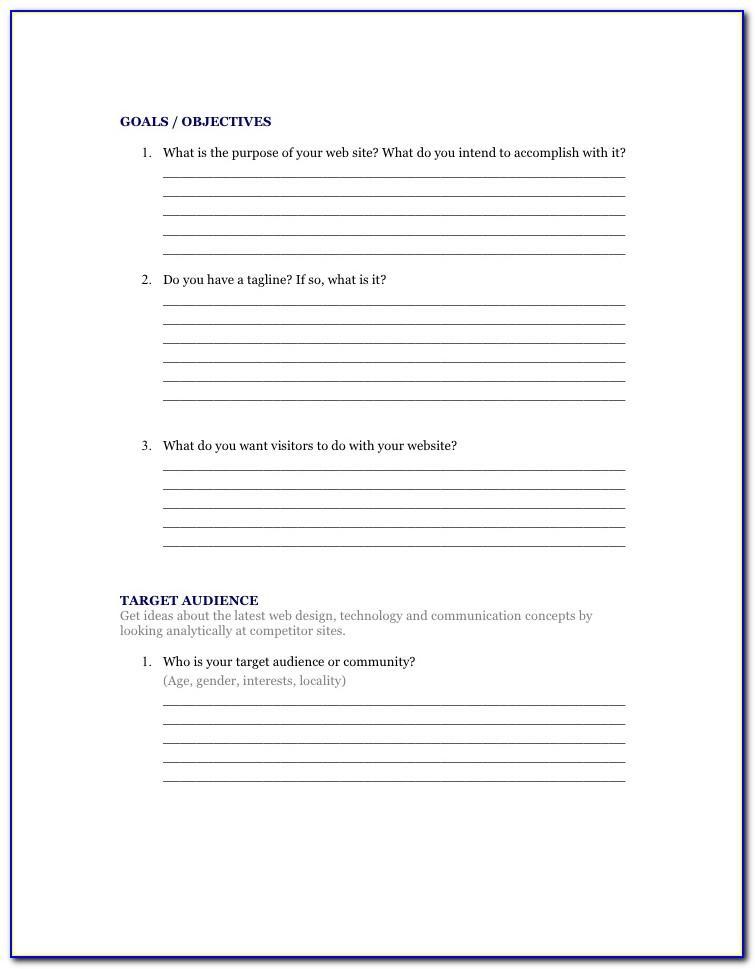Web Design Survey Example