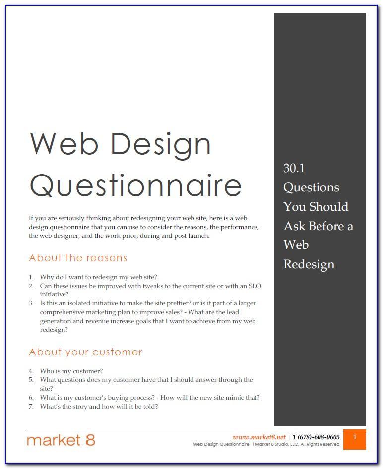 Web Design Template Psd File