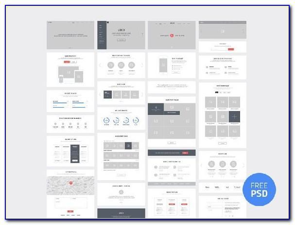 Web Design Wireframe Psd
