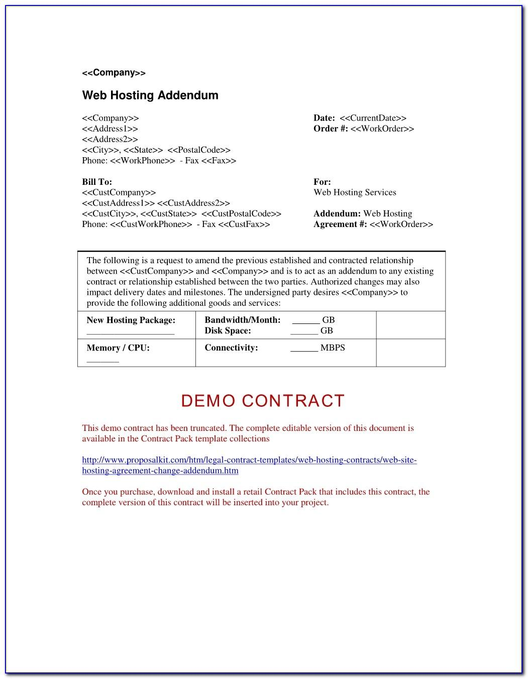 Web Hosting Agreement Template Uk