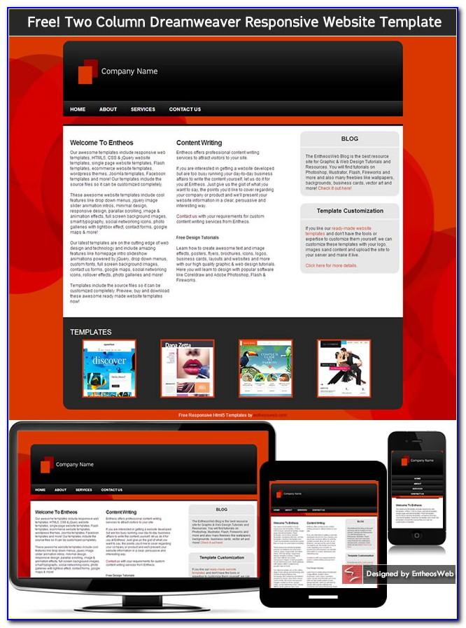 Web Page Templates Dreamweaver