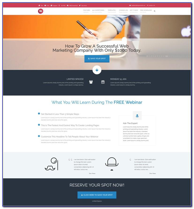 Webinar Landing Page Design Templates