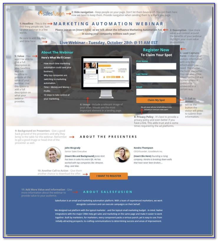 Webinar Landing Page Template Free Download