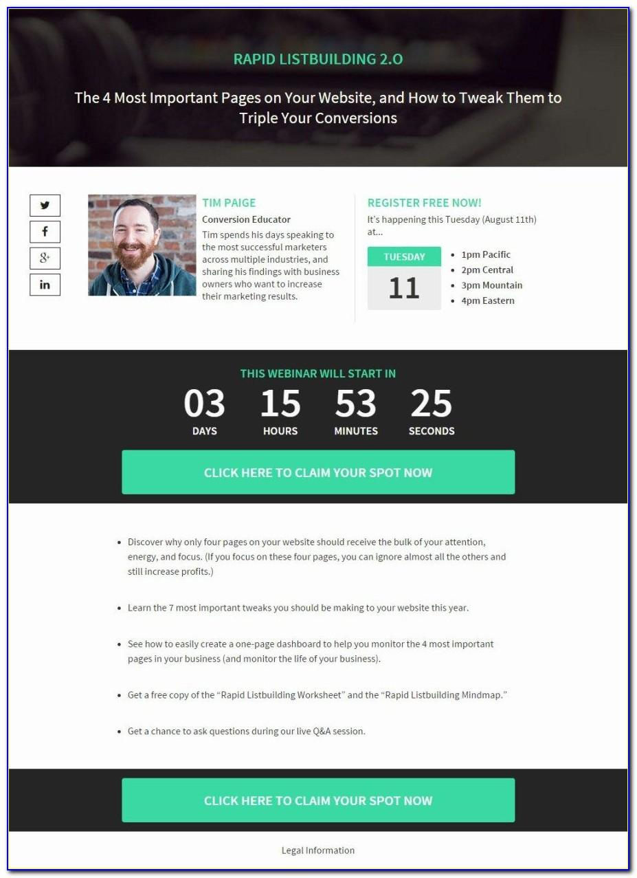 Webinar Registration Landing Page Template