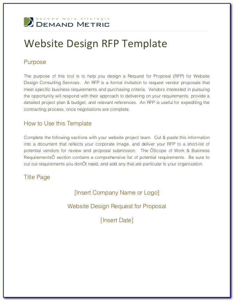 Website Development Rfp Example