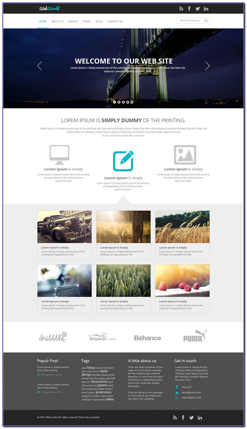 Website Layout Design Psd Files Free Download