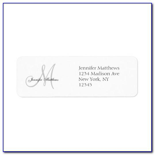 Wedding Address Label Template Free