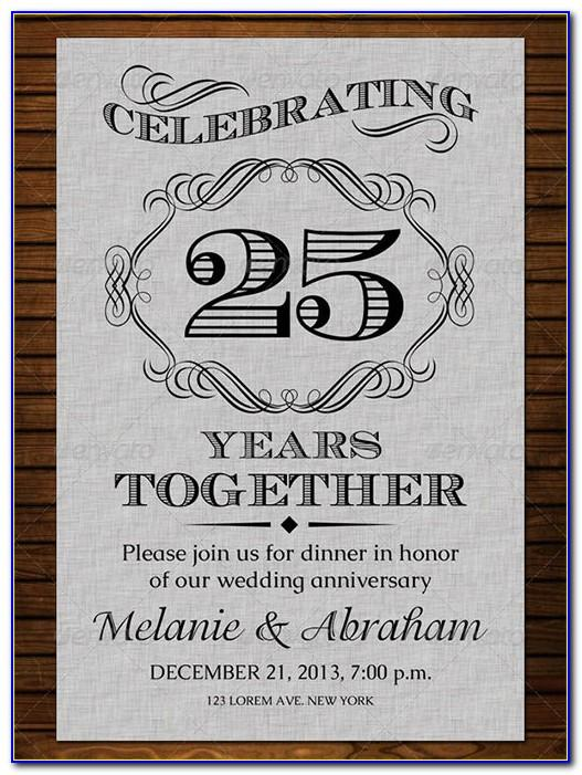 Wedding Anniversary Invitation Template Psd Free