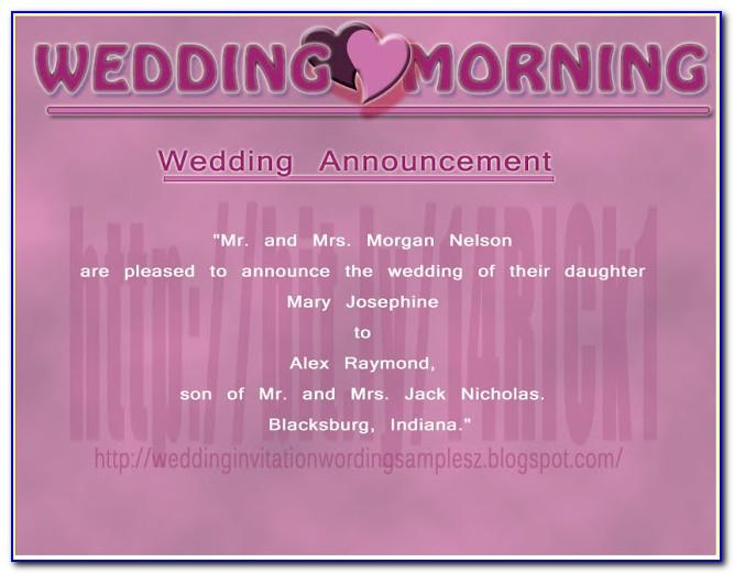 Wedding Announcement Card Psd Template