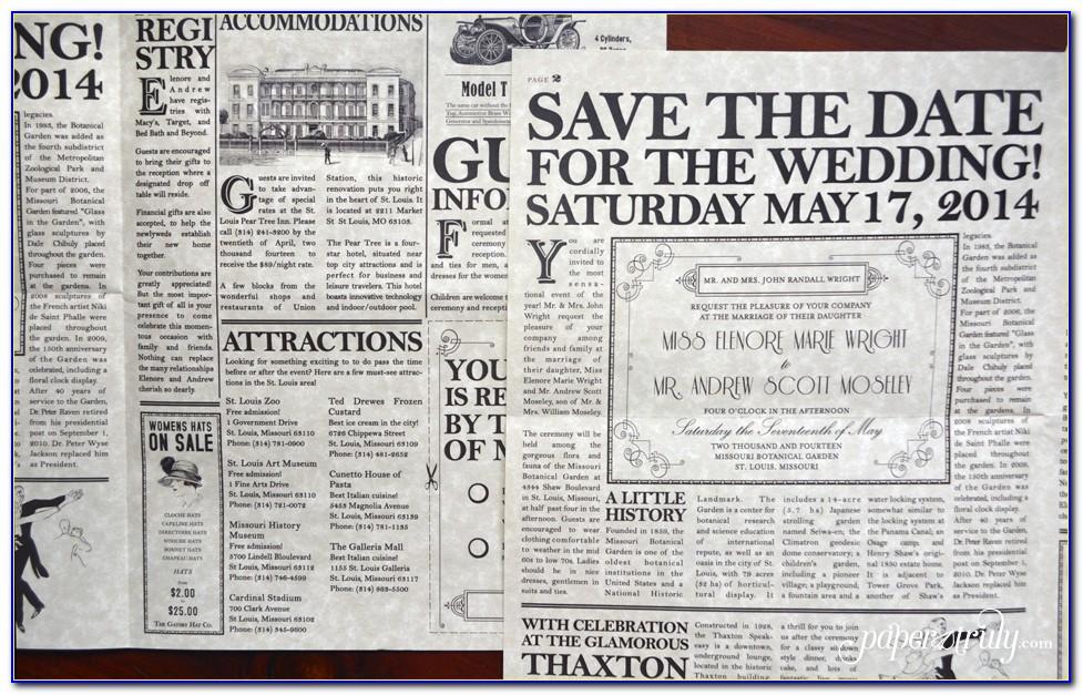 Wedding Announcement Template Newspaper