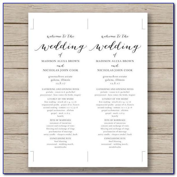 Wedding Binder Tabs Template