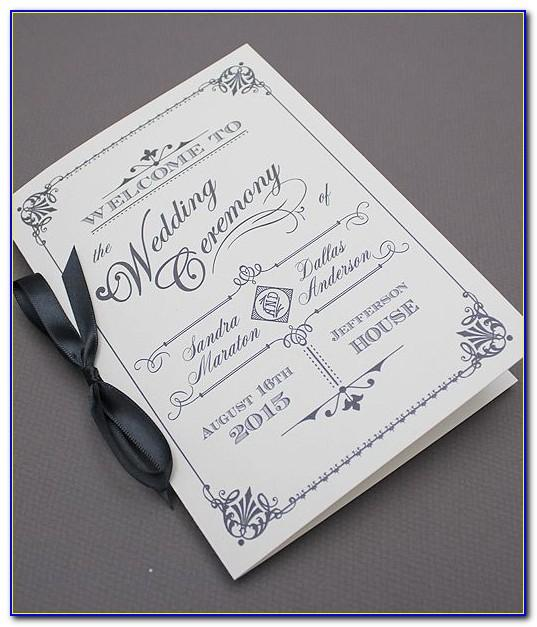 Wedding Booklet Template Free
