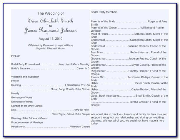 Wedding Ceremony Book Template
