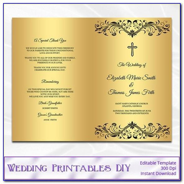 Wedding Ceremony Booklet Template Free