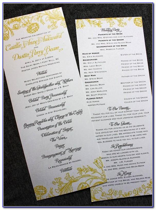 Wedding Ceremony Program Fans Template