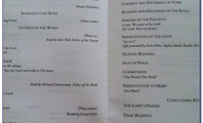 Wedding Ceremony Program Template Martha Stewart