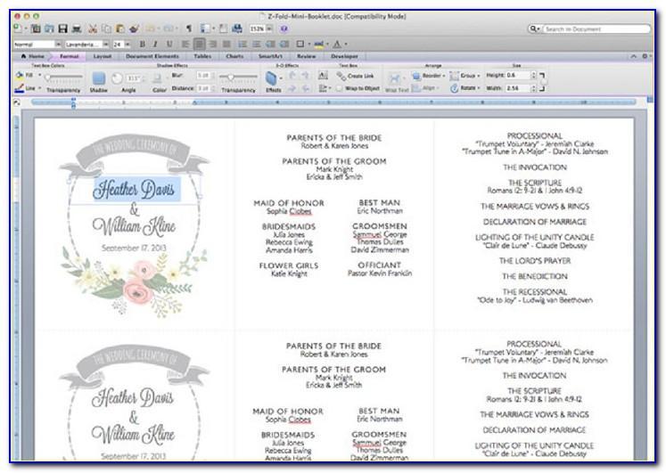 Wedding Ceremony Program Templates Ideas