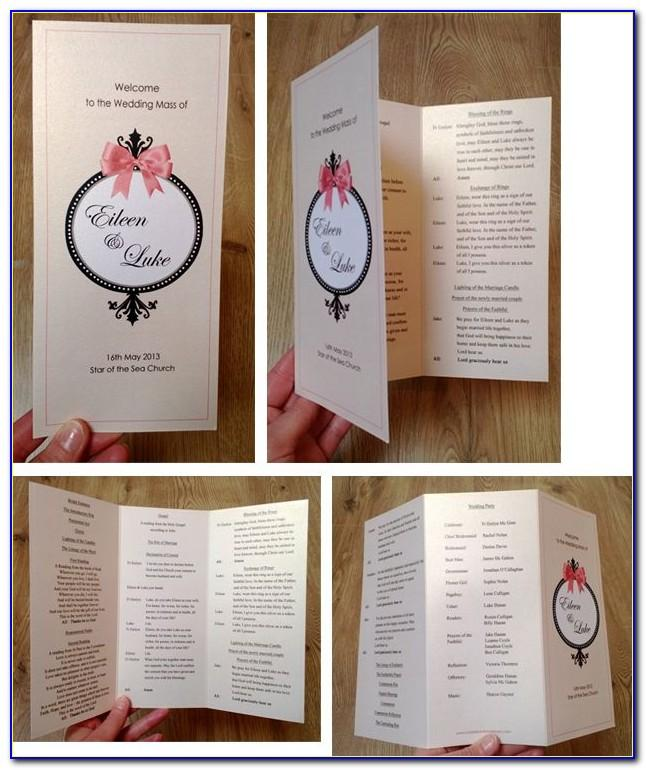 Wedding Ceremony Programs Template