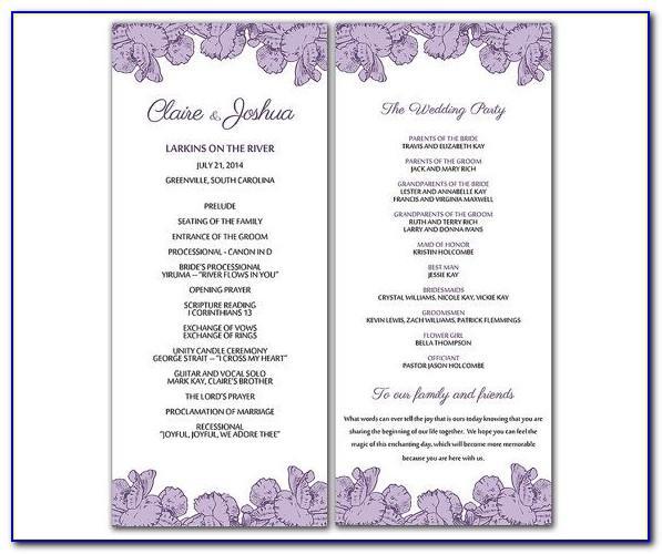 Wedding Church Program Sample