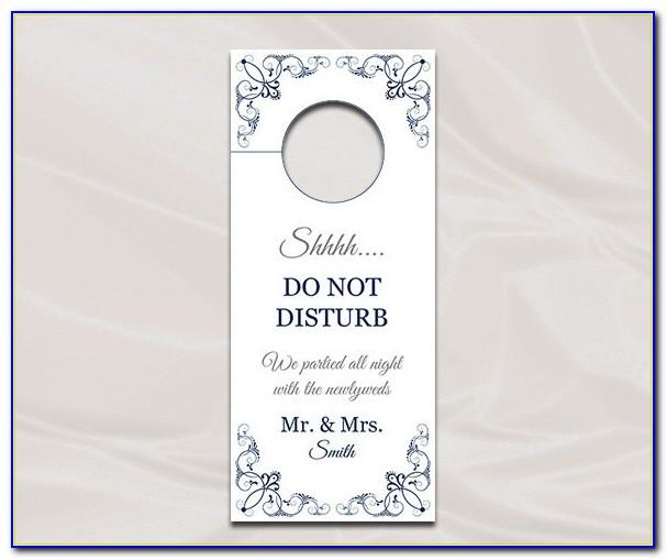 Wedding Door Hanger Template For Word