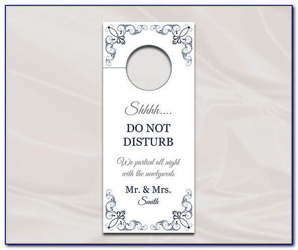 Wedding Door Hanger Template For Word