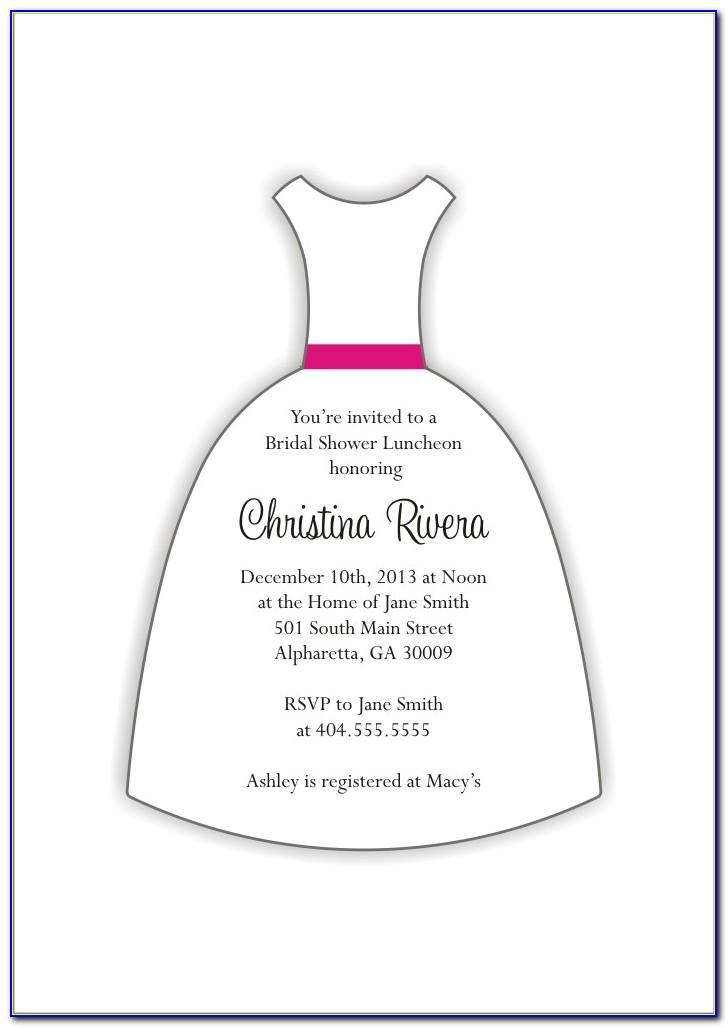 Wedding Dress Invitation Template
