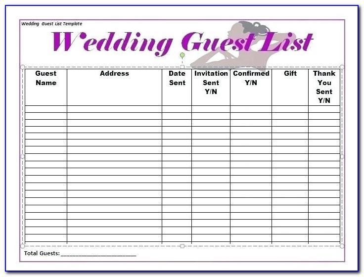 Wedding Guest Address Labels Template Free