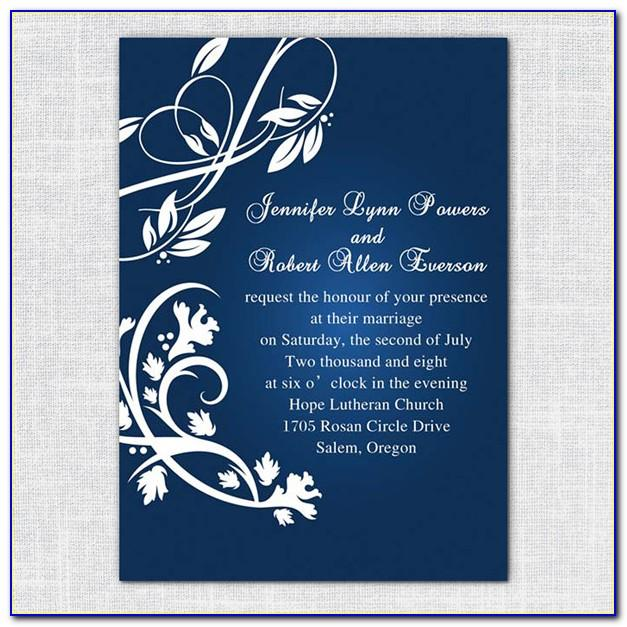 Wedding Invitation Card Template Editable