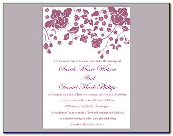 Wedding Invitation Editable Templates Free Download
