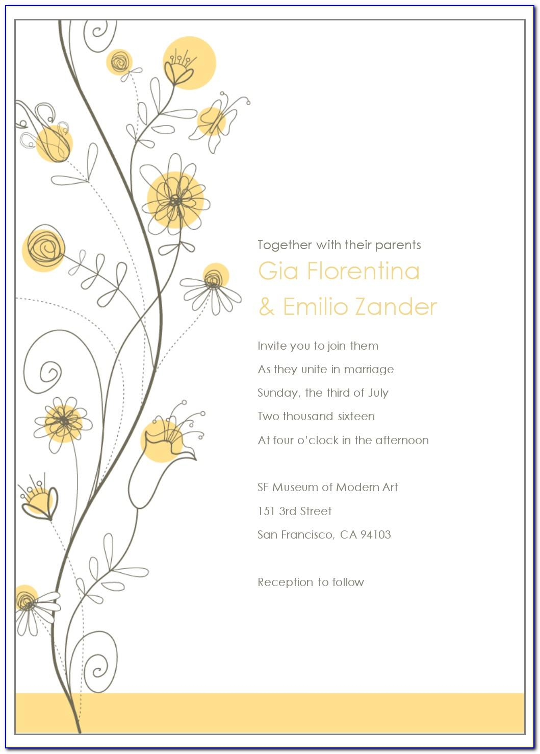Wedding Invitation Email Sample Template