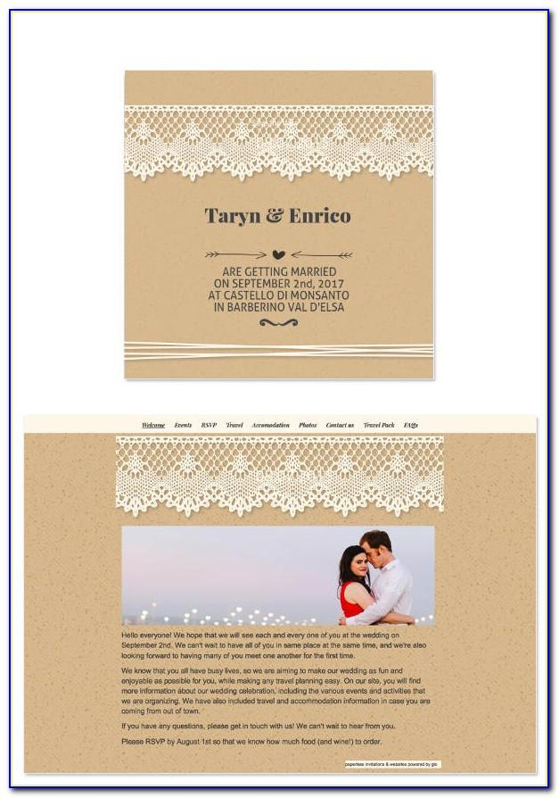 Wedding Invitation Email Template Free