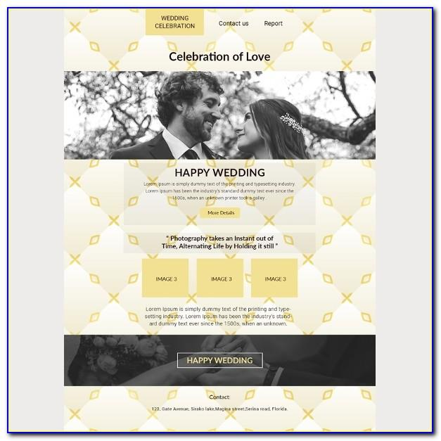 Wedding Invitation Email Template Indian