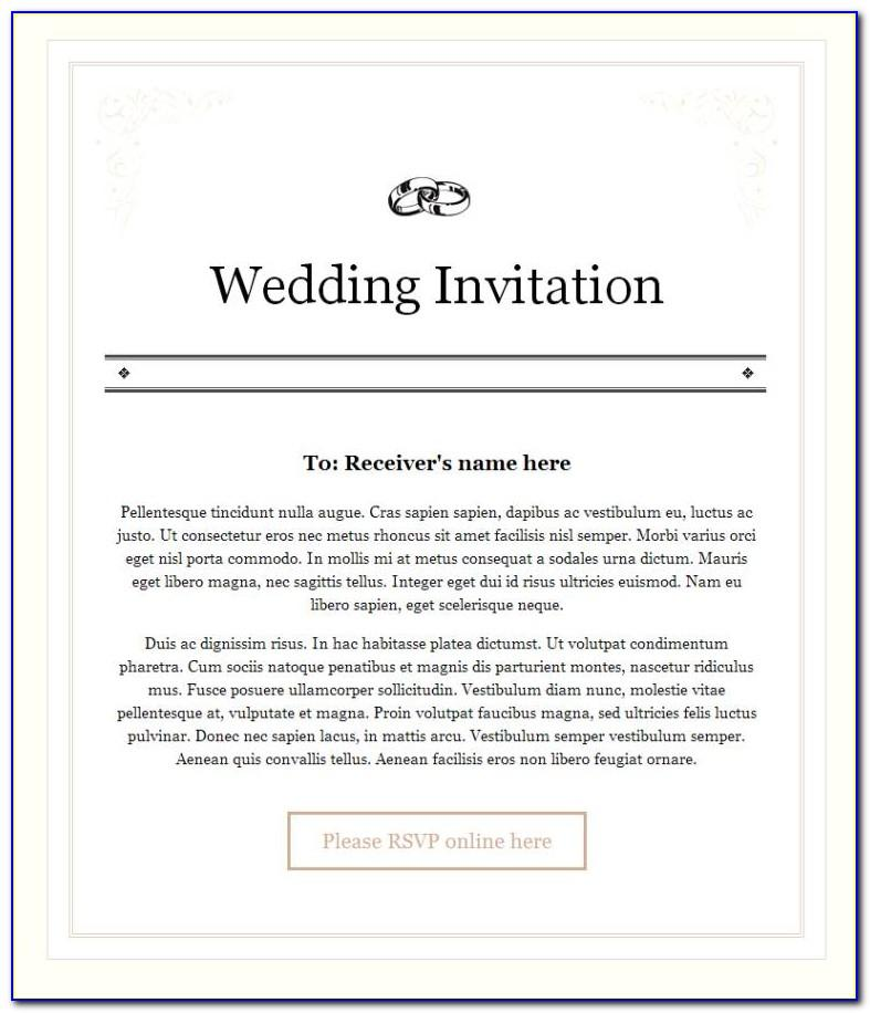 Wedding Invitation Email Templates Free Download