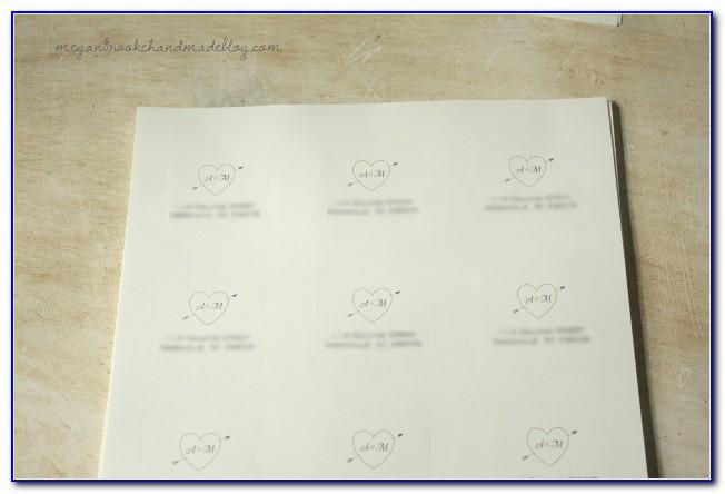 Wedding Invitation Envelope Label Template