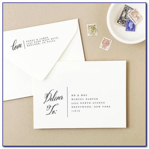Wedding Invitation Envelopes Templates
