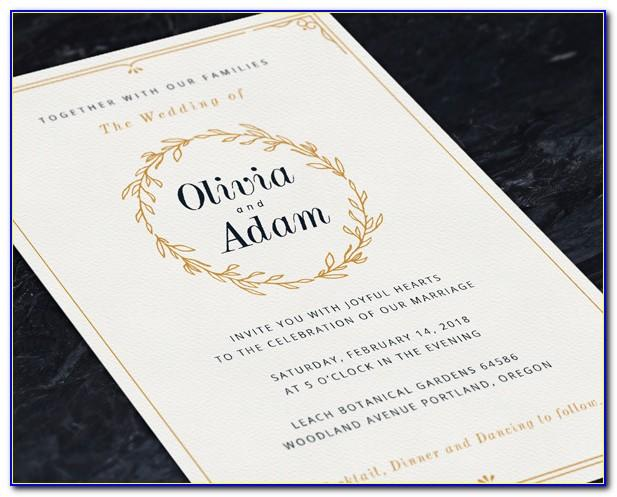 Wedding Invitation Layout Psd