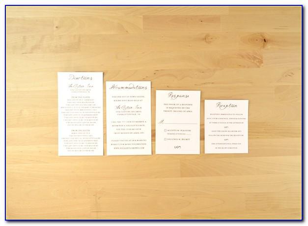 Wedding Invitation Map Insert Templates