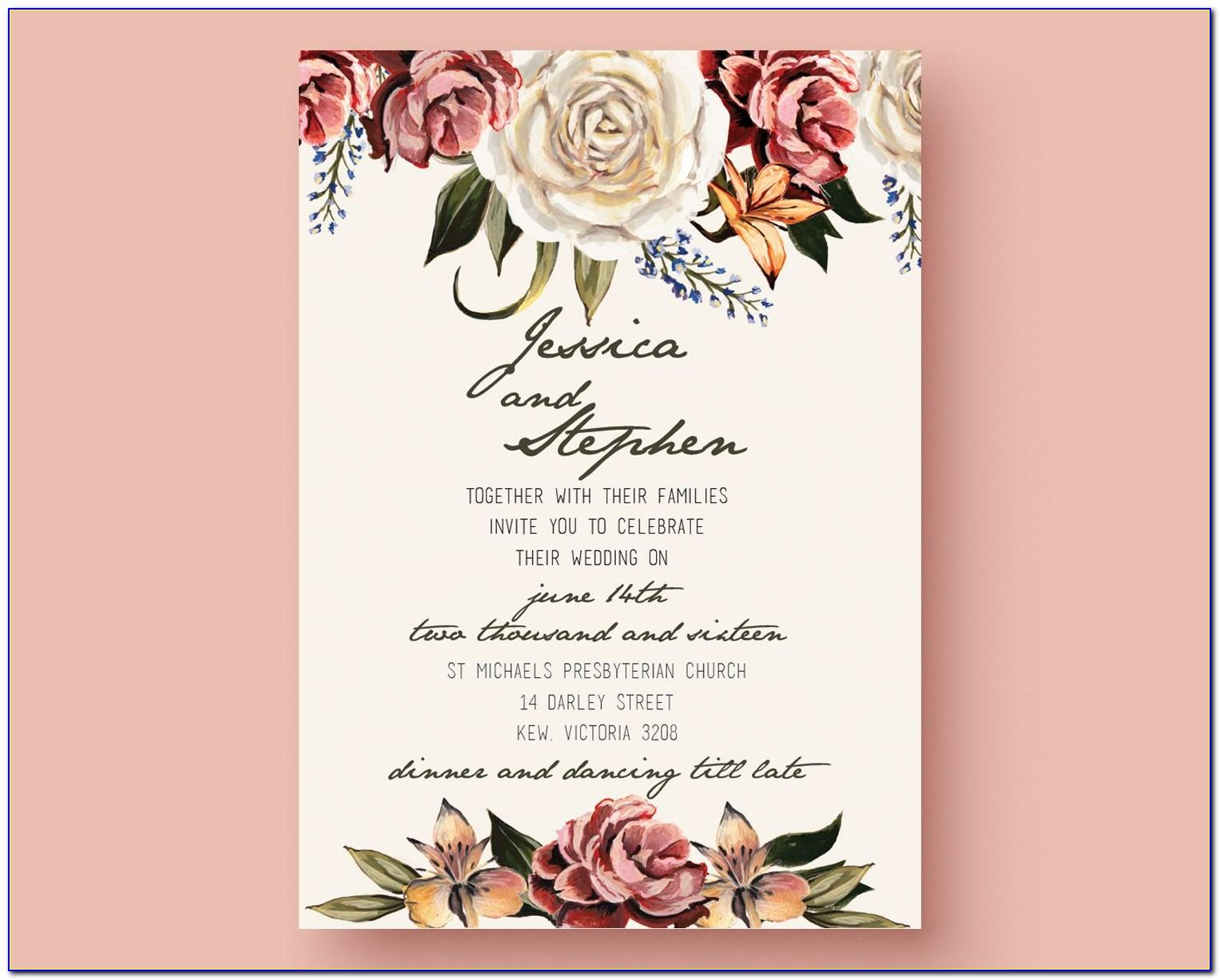 Wedding Invitation Ppt Templates Free Download