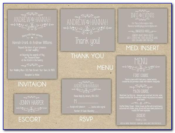 Wedding Invitation Registry Inserts Template
