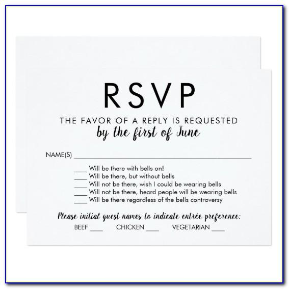 Wedding Invitation Rsvp Wording Templates