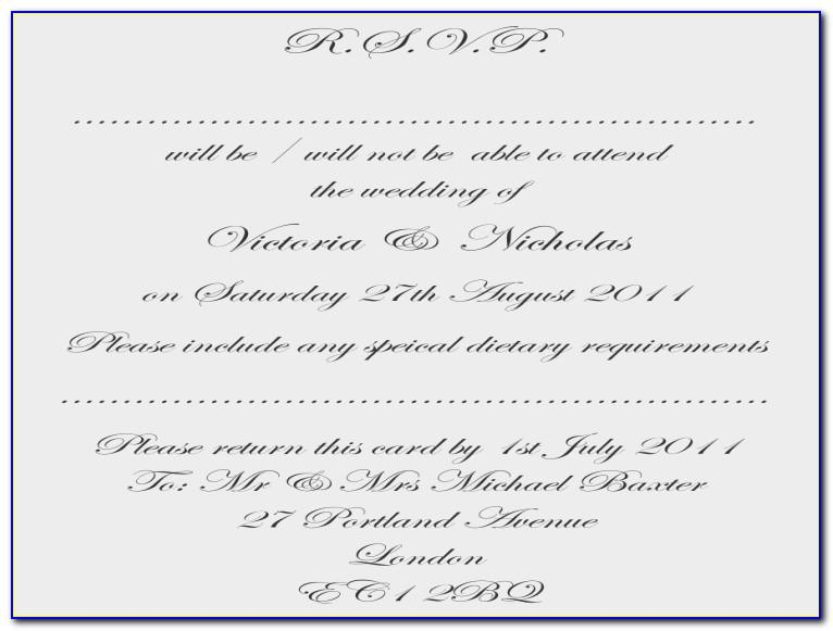 Wedding Invitation Sample For Friends