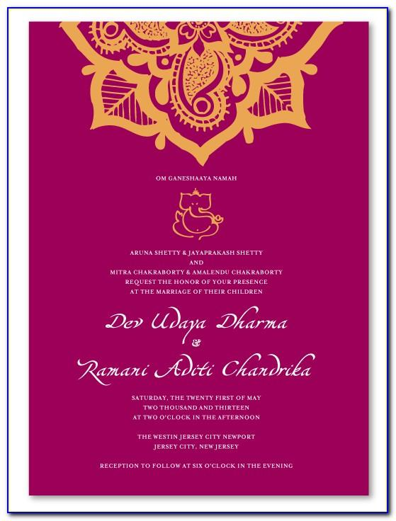 Wedding Invitation Template Indian